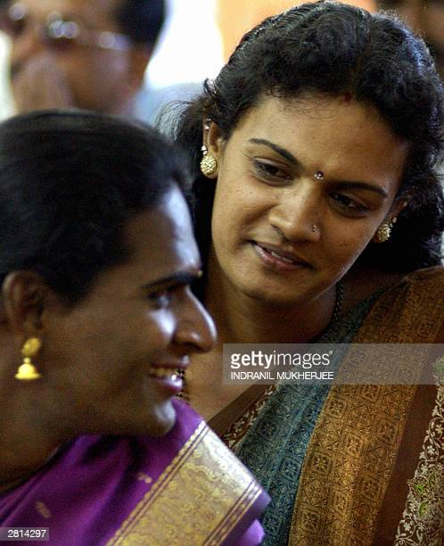 Indian hijraseunuchs talk at a public meeting of sexual minorities in Bangalore 16 December 2003 The public meeting organised by Sangama a city...