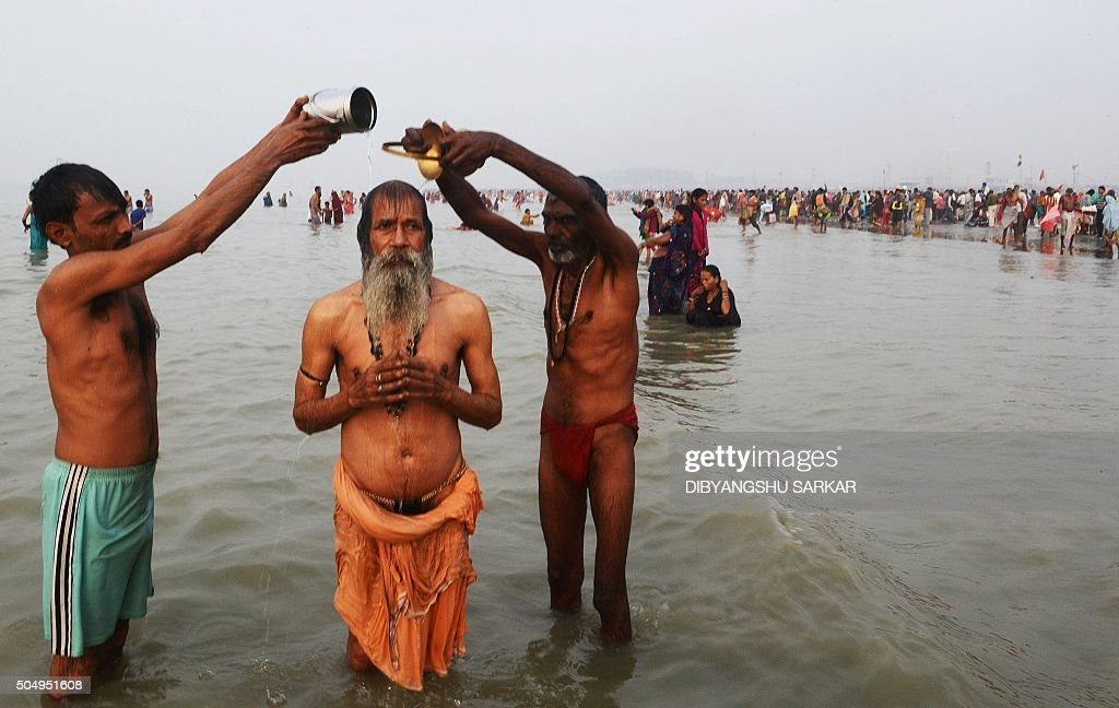 INDIA-RELIGION-HINDUISM-GANGASAGAR : News Photo