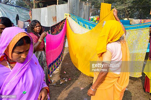 Indian Hindu Pilgrims in Gangasagar transit camp at Kolkata Sadhus form all over the country started to gather in Kolkata on their way to the annual...