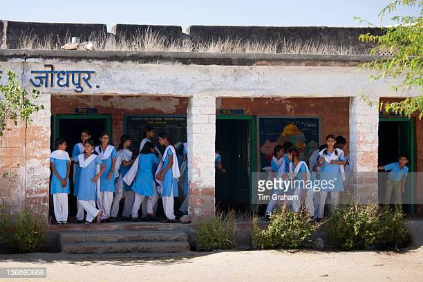 Indian Hindu schoolchildren at state school at Kaparda village in Rajasthan Northern India