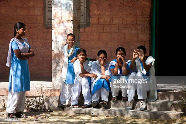 Indian Hindu schoolchildren at state school at Kaparda village in Rajasthan Northern India