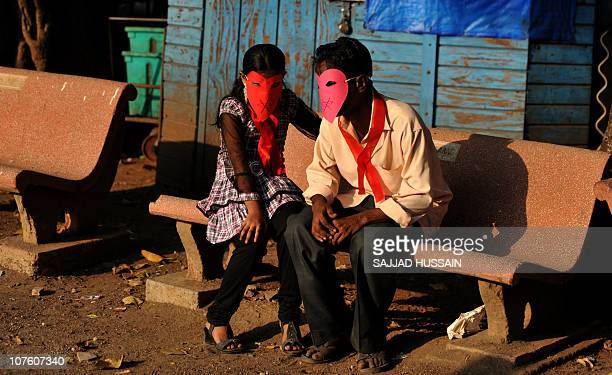 Indian HIV / AIDS positive patients observe proceedings during an awarness event which was organised by Community Health intiatives and Reasearch...