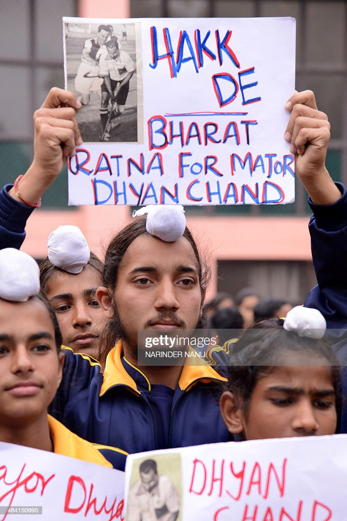INDIAN-AWARD-CHAND-PROTEST : News Photo