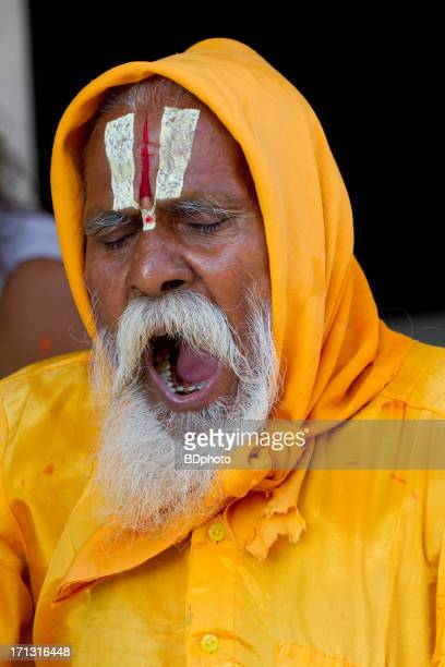 indian holy man (sadhu), in new delhi, india - religious occupation stock pictures, royalty-free photos & images