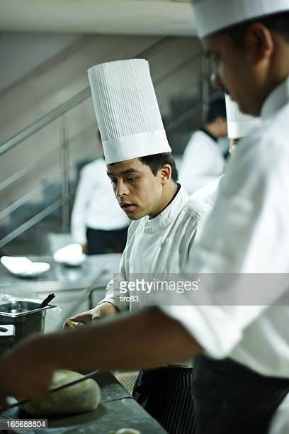 Indian hotel chefs preparing food