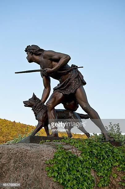 Indian Hunter sculpture by John Quincy Adams Ward, 1897.