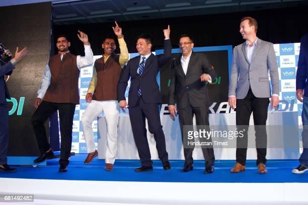 Anup kumar stock photos and pictures getty images indian kabaddi players rahul chaudhari anup kumar pose with kent cheng ceo vivo india sanjay gupta altavistaventures Choice Image
