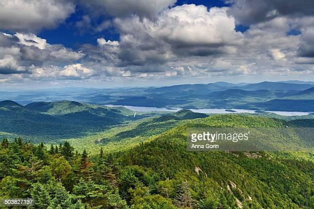 Indian Lake viewed from mountain in Adirondacks