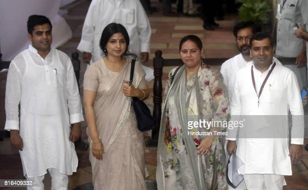 Indian lawmakers Dimple Yadav and Indian politician from the state of Bihar and the daughter of Lalu Prasad Yadav and Rabri Devi Misa Bharti and...