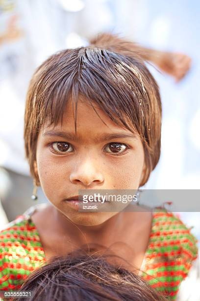 indian little girl - izusek stock photos and pictures