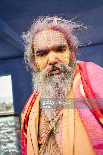 indian man at holi festival rajasthan india real people portrait - mlenny stock pictures, royalty-free photos & images