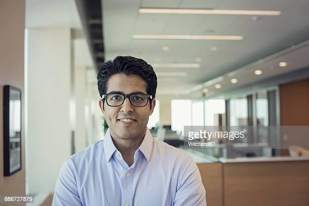 Indian man in office, portrait