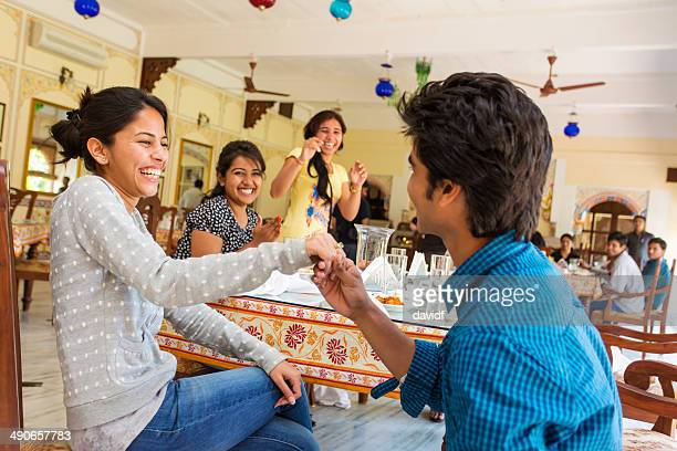 indian marriage proposal - community engagement stock pictures, royalty-free photos & images