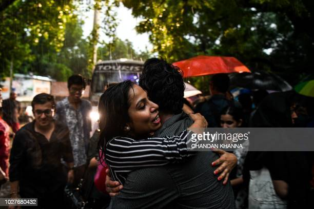 Indian members and supporters of the lesbian gay bisexual transgender community celebrate the Supreme Court decision to strike down a colonialera ban...