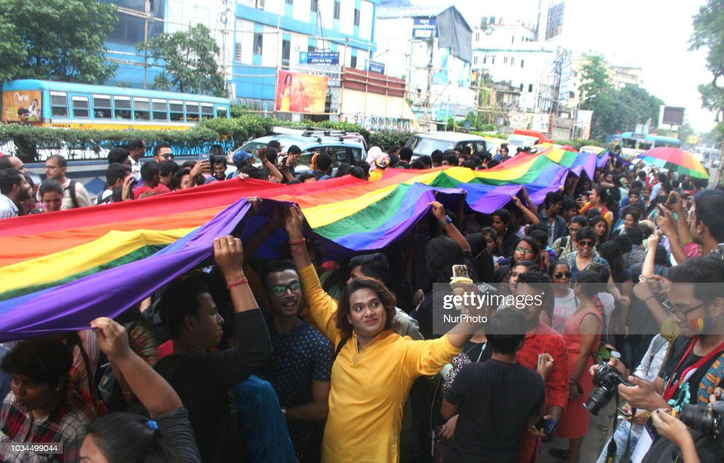 Members Of LGBTQ Community Celebrate The Historic Verdict On Section 377 : News Photo