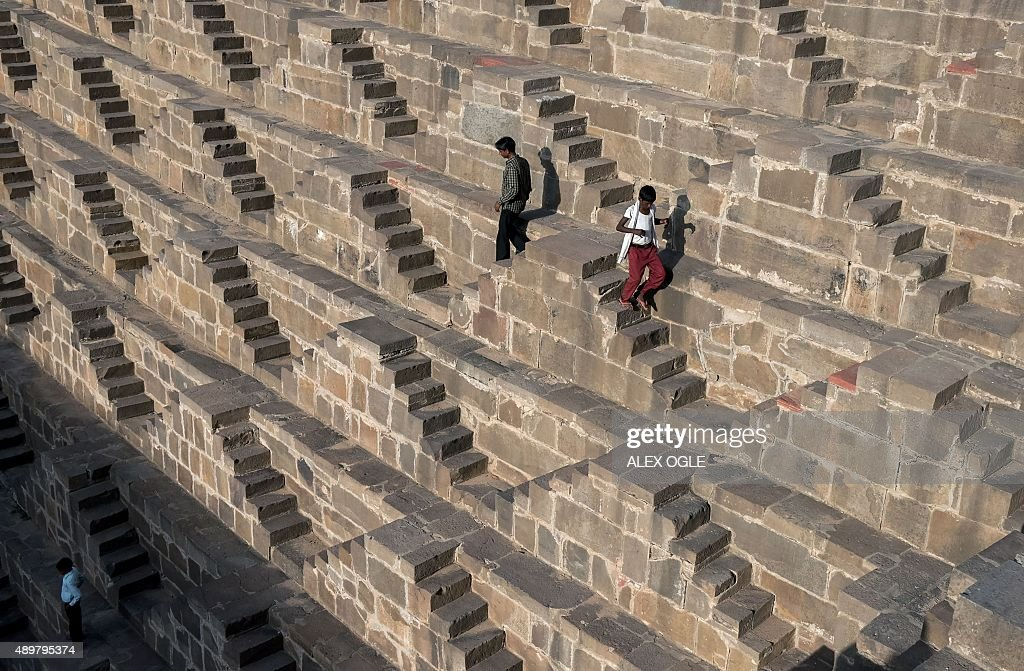 INDIA-RELIGION-HINDU-STEPWELL : News Photo