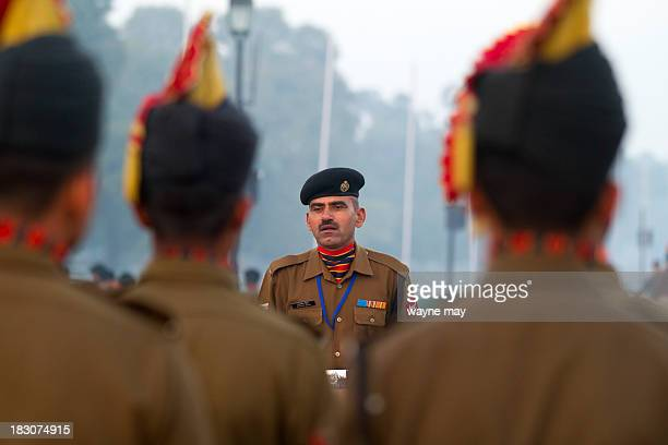 CONTENT] Indian Military Sgt is reviewing his soldiers during the Republic Day parade rehearsal in New Delhi India will celebrate the 64th Republic...