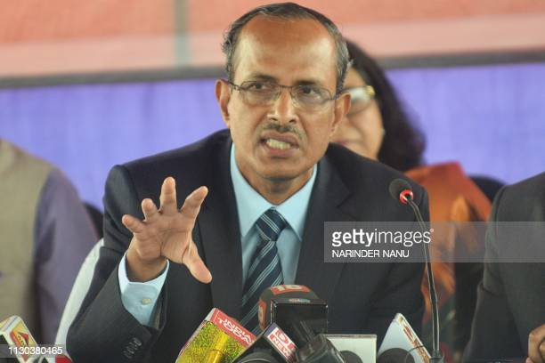 Indian Ministry of Home Affairs Joint Secretary S C L Das talks to media during a press conference at the Integrated Check Post at the IndiaPakistan...