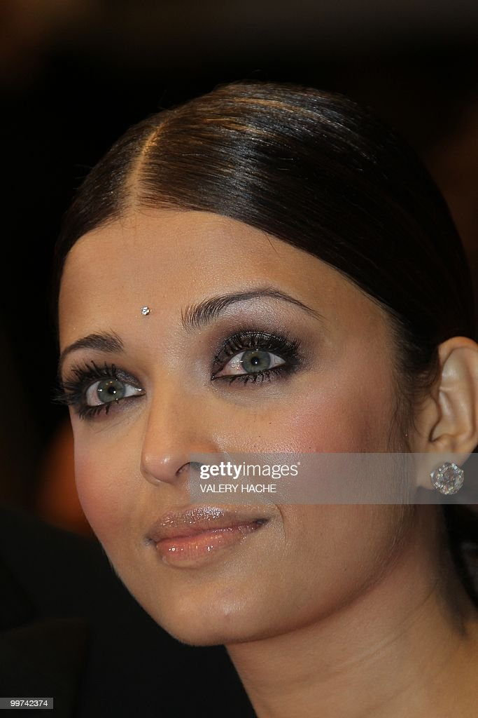 Indian model Aishwarya Rai arrives for the screening of 'Outrage' presented in competition at the 63rd Cannes Film Festival on May 17, 2010 in Cannes.