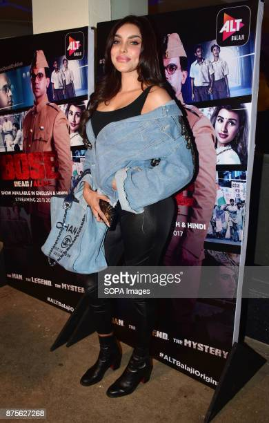Indian model and actress Gizele Thakral attend the special screening of Web series Bose Dead/Alive at Sunny sound studio Juhu in Mumbai