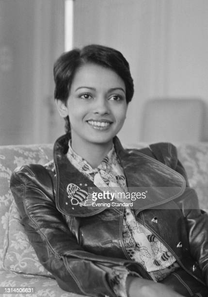 Indian model and actress Persis Khambatta at the Dorchester Hotel in London, UK, 24th January 1974.