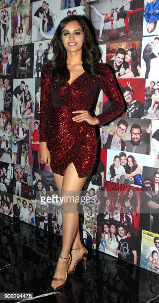 Indian model and Miss World 2017 Manushi Chhillar poses for a picture during the launch of photographer Dabboo Ratnanis 2018 Calendar in Mumbai late...