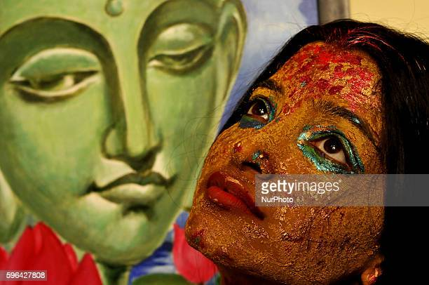 68 The Live Body Painting Art Show In Kolkata Photos And Premium High Res Pictures Getty Images