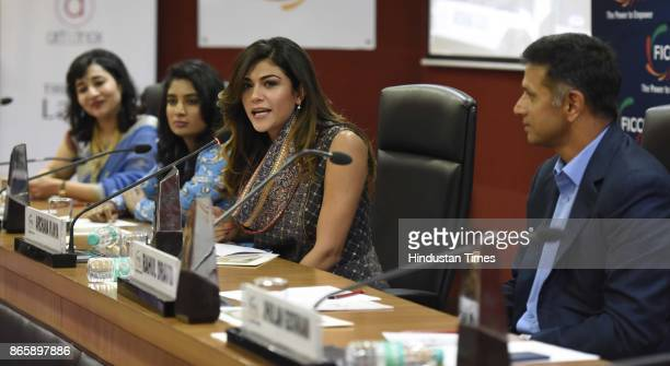 Indian model TV anchor Archana Vijaya FICCI Ladies Organisation President Vasvi Bharat Ram Indian Women's Cricket Team Captain Mithali Raj Former...