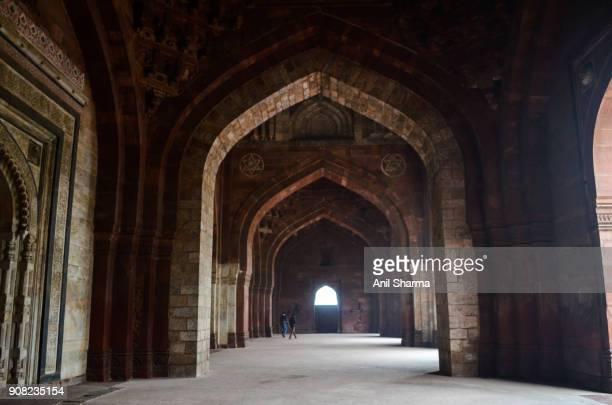 Indian Monuments: Old Fort- Qila-i-Kuhna Masjid or Mosque