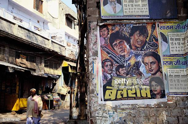 Indian Movie Poster near Bazaar