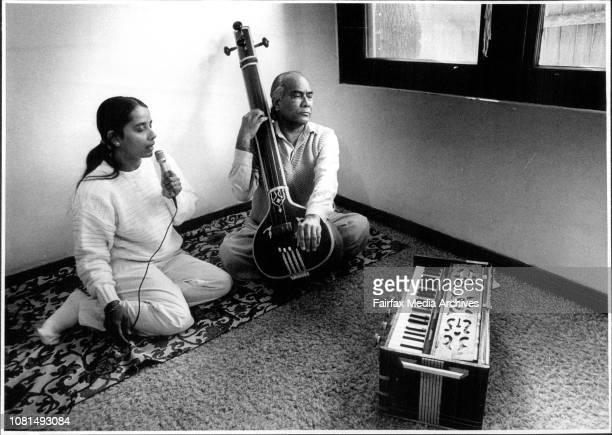 Indian Music teacher Pandit Ghulam Qadir Khan and student Dr Shobha Balu July 23 1987
