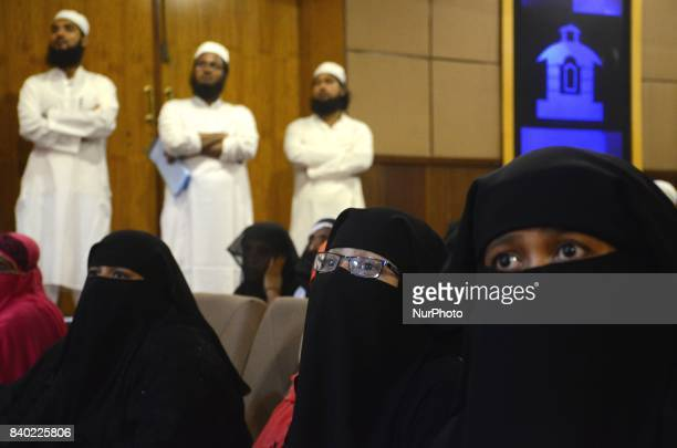 Indian Muslim Women participate in the protest programme of JamatUlemaEHind against verdict of supreme court to stop Triple Talaq system nationwide...