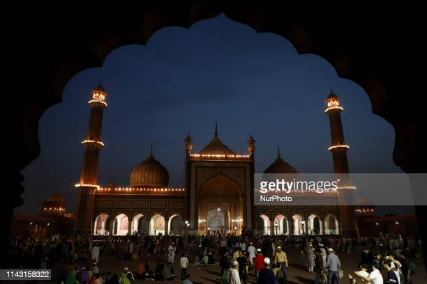 Indian Muslims gather in the compound of Jama Masjid to break their daylong fast in New Delhi India Saturday May 12 2019 Muslims across the world are...
