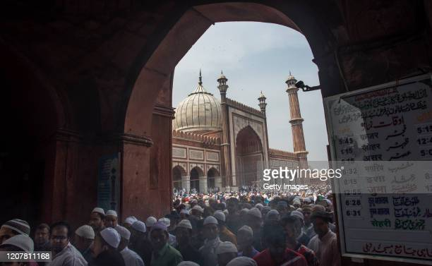 Indian Muslims leave historic Jama Masjid after attending congregational Friday prayers amid the government imposing restriction on assembly of more...