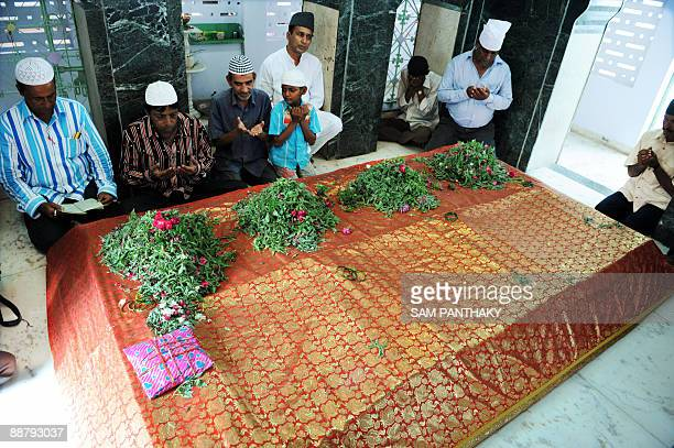 Indian Muslims pray for rain at the Hazrat Musa Suhag shrine in Ahmedabad on July 2 2009 Prophet Hazrat Musa Suhag is believed to have succesfully...
