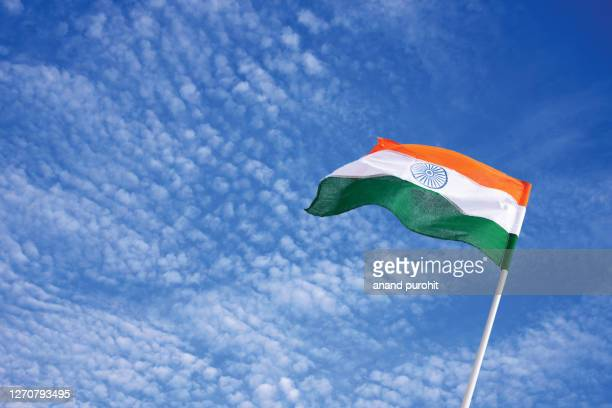 indian national flag - indian flag stock pictures, royalty-free photos & images