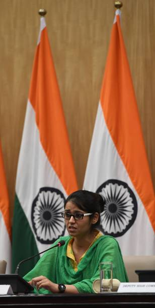Indian National Uzma Ahmed Addresses A Press Conference After Her Return From Pakistan At The Foreign Ministry In New Delhi On May 25 2017