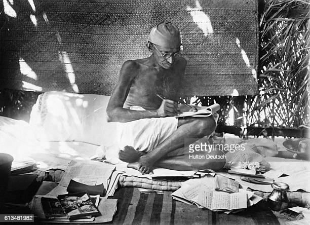 Indian Nationalist Leader Mahatma Gandhi