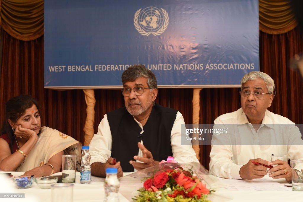 Indian Nobel Peace Shri Kailash Satyarthi in Kolkata : News Photo