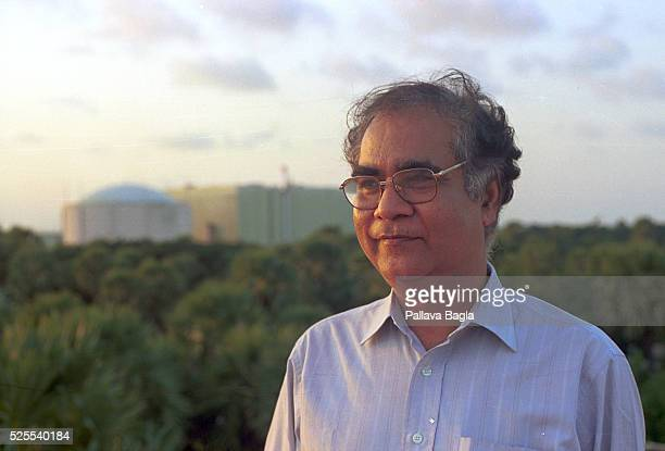 Indian Nuclear scientist Dr Baldev Raj director of the Indira Gandhi Center for Atomic Research in Kalpakkam with the nuclear reactor in the...