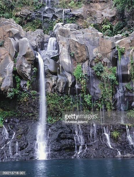 Indian Ocean, Mascarene Islands, Reunion Island, waterfall