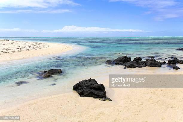 Indian ocean penetrates Ile Aux Cerfs