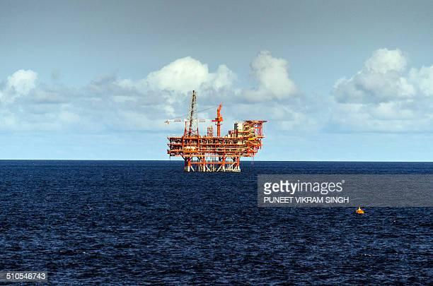 Indian Offshore Gas platform at KG Basin.