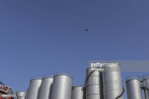 Indian Oil Corp Storage Tanks Stand In Mumbai India On Saay April 8 2017 Expanding Fuel