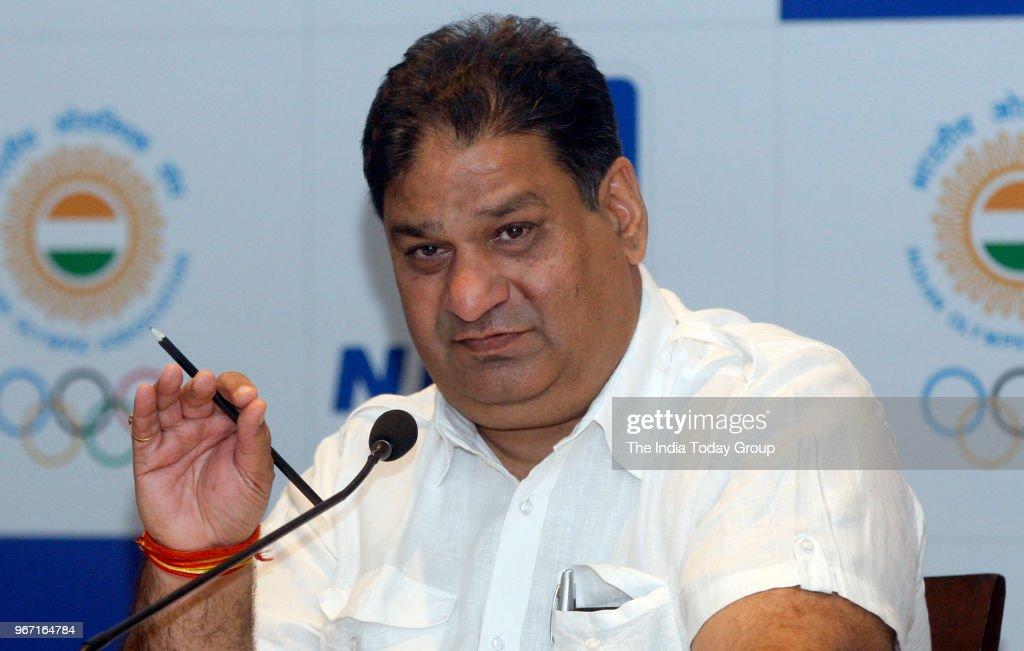 Indian Olympic Association General Secretary Rajeev Mehta during the