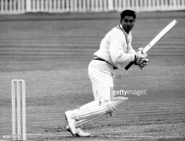 Indian opening batsman Farokh Maneksha Engineer cuts a ball