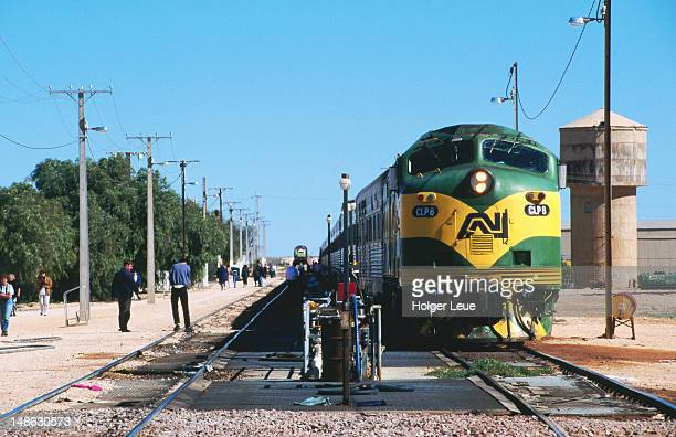 Indian Pacific train at Cook stop.