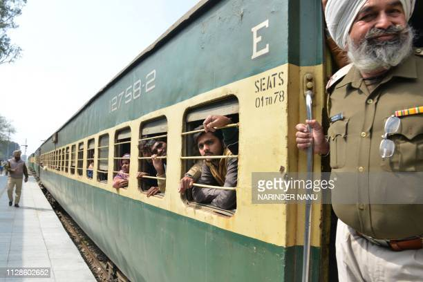 Indian Passengers travelling from Pakistan on the Samjhauta Express also called the Friendship Express that runs between New Delhi and Attari in...
