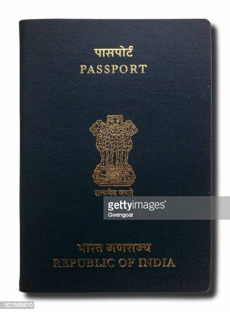 Indian passport isolated on a white background