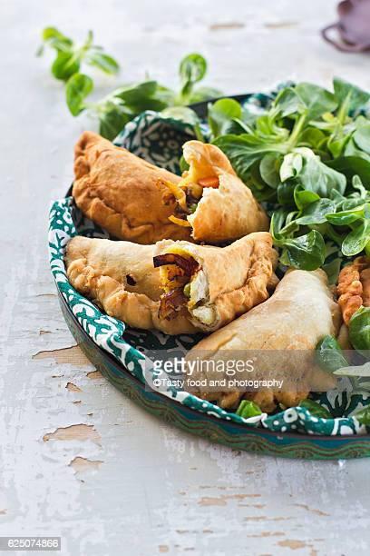 indian pasties - cornish pasty stock pictures, royalty-free photos & images